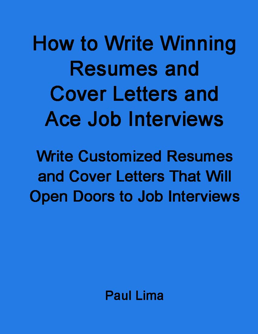 how to write resumes, Paul Lima